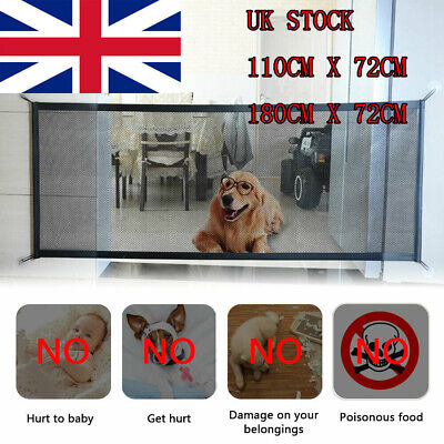 Pet Dog Baby Retractable Gate Safety Guard Folding Toddler Stair Gate Isolation