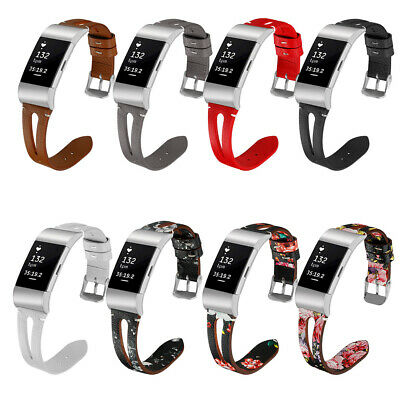 For Fitbit Charge 2 Watchband Genuine Leather Replacement Wrist Watch Strap