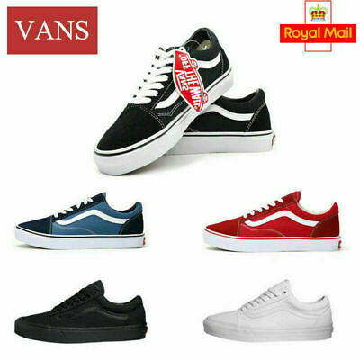 VANS Old Skool Skate Shoes Black/White All Size Classic Canvas Sneakers UK3-9.5