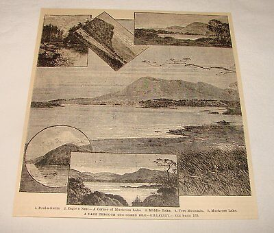 1887 magazine engraving ~ KILLARNEY, Ireland
