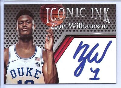 Zion Williamson Duke University 2019 Iconic Ink Rookie Card