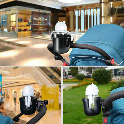 Black Universal Baby Stroller Cup Bottle Holder Easy Install Pushchair Mount