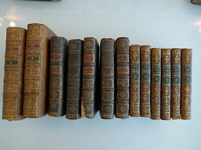 Bon lot XVIIIe, Marot 1731, Corneille 1771, Molière 1799, ensemble de 13 volumes