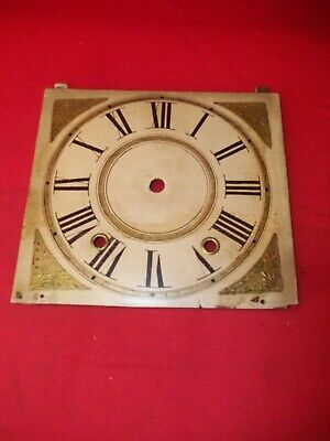 Very Nice Looking Small Wood Works Weight Clock Dial  !!!