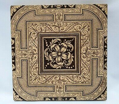 "MINTON ANTIQUE VICTORIAN AESTHETIC MOVEMENT 6"" WALL FLOOR TILE c1868-1900 19th C"