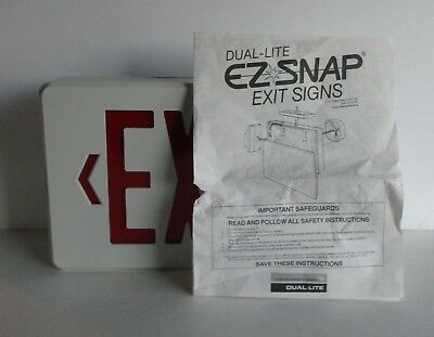 Dual-Lite EZ-Snap Exit Sign Red and White
