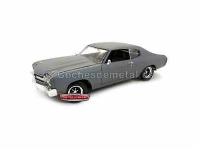 """1970 Chevrolet Chevelle SS """"Fast and Furious IV"""" Gris Mate 1:18 ERTL 39579"""