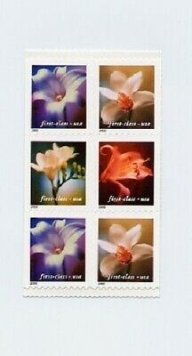 3454-3457c Flowers (34c) Pane of 6 from Vending Booklet