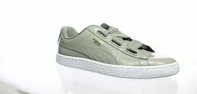 PUMA WOMEN'S BASKET Heart Patent Wn's Fashion Sneaker, Rock