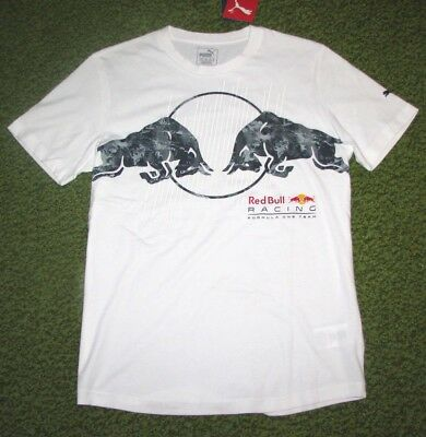 """Men's (s) PUMA """"RED BULL RACING"""" Collection White T-Shirt (Formula One)"""