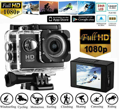 4K Ultra HD 1080P Action Sport Camera 5M LCD Waterproof  DVR Camcorder LED ON