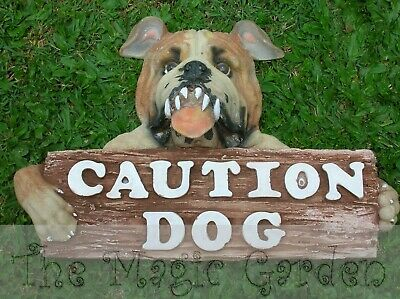 CAUTION DOG sign cement plaster craft latex moulds molds
