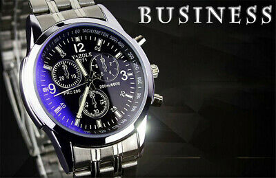 Men's Luxury Watches Stainless Steel Band Date Analog Quartz Sport WristWatch@IC