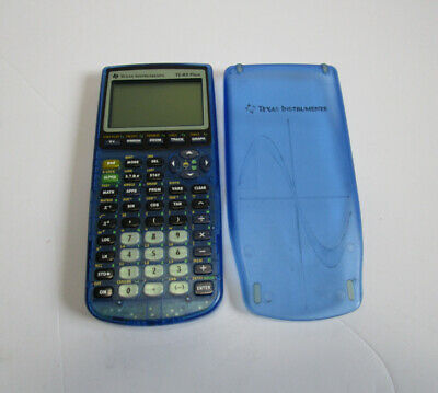 Texas Instruments TI-83 Plus Graphing Calculator Clear Blue