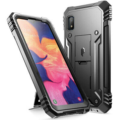Samsung Galaxy A10e Case,Poetic® Dual Layer Shockproof Kick-stand Cover Black