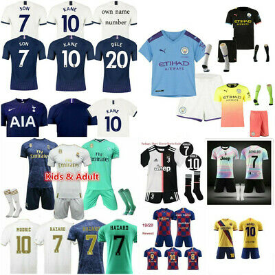 UK  Home Away  Suits Kids Adults Jersey Outfit Kits