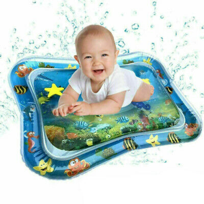 Kids Inflatable Tummy Time Water Mat Baby Infant Toddlers Mattress Fun Playmat