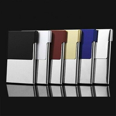Stainless Steel Pocket Business Name Credit ID Card Holder Metal Box Case Trend