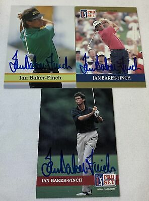 lot of 3 hand signed autographed PGA Pro Set cards ~ IAN BAKER-FINCH