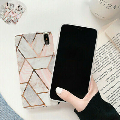 For iPhone Geometric Pastel  Cover XS MAX X 10 XR 6s 6 8 7 Plus  Marble  Case
