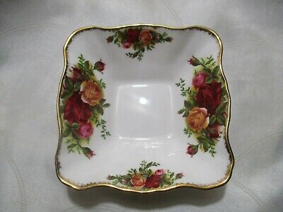 Royal Albert Old Country Roses Square Candy Nut Dish Bowl
