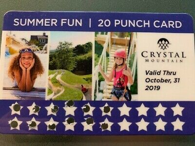 Crystal Mountain! Punch Card, Pool Passes, Alpine Slide Tickets - A $70+ Value