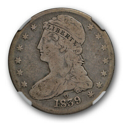 1839 O Capped Bust Half Dollar Reeded Edge NGC VG 8 Very Good Key Date