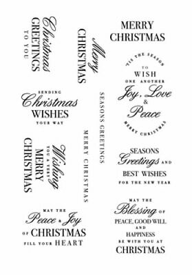 KAISERCRAFT Scrapbooking Clear Stamps - Sentiments - Christmas Greetings - CS370