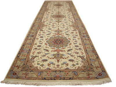 White 10 ft Best Runner Rugs Handmade 2' 10'' x 10' 3'' Oriental Runner