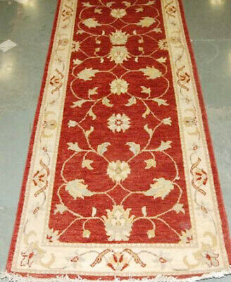 Red Genuine Handmade 19 foot Jaipur Rust New Indo 37 x 233 in Woollen Runner