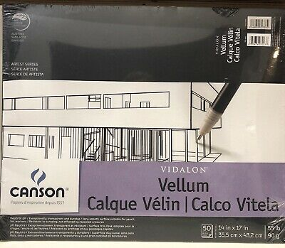 PACON PAPERS 100510983 VIDALON VELLUM TAPE BOUND 50 SHEETS PAD 9X12 CANSON