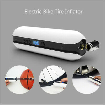 Electric Inflator Pump Portable Bike Bicycle Air Pressure Rechargeable Cordless