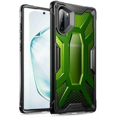 Galaxy Note 10 Plus Case Poetic® Clear Bumper Protective Cover Citron Green