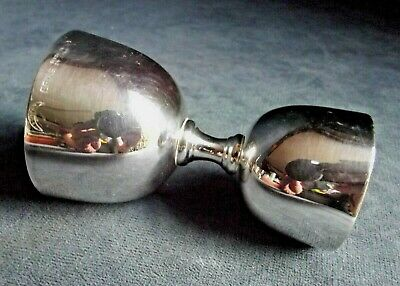 SUPERB ~ SILVER Plated ~ ART DECO ~ COCKTAIL Double MEASURE ~ c1935 ~ Chatterley