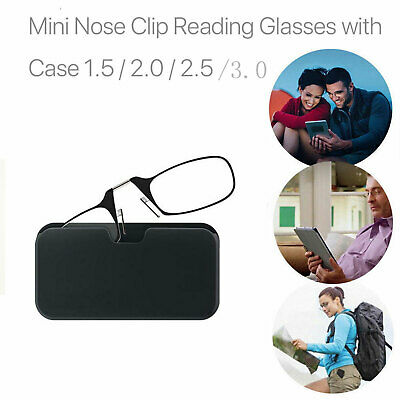 Flexible Portable Wallet Mini Reading Glasses Pocket Phone Nose Clip 3.0 2.0 New