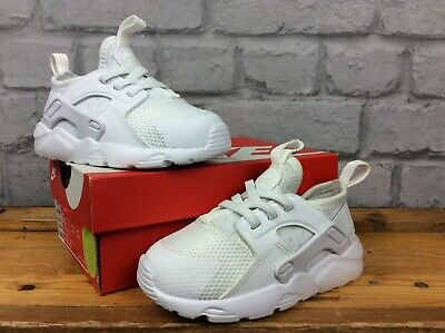 Nike Uk 7.5 Eu 25 White Huarache Run Trainers Girls Boys Childrens Toddler Lg