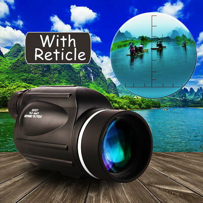 13x50 HD Rangefinder Spotting Scope Monocular Measurable Reticle Waterproof AU