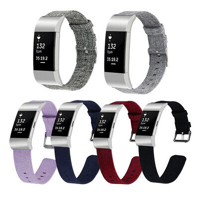 For Fitbit Charge 2 Smart Watch Watchband Replacement Nylon Canvas Wrist Strap