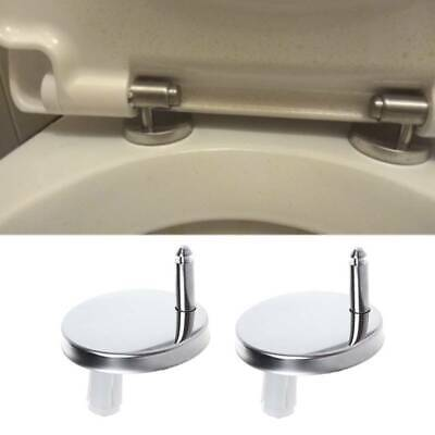 Fine 2Pcs Top Fix Wc Toilet Seat Hinges Fitting Quick Release Machost Co Dining Chair Design Ideas Machostcouk