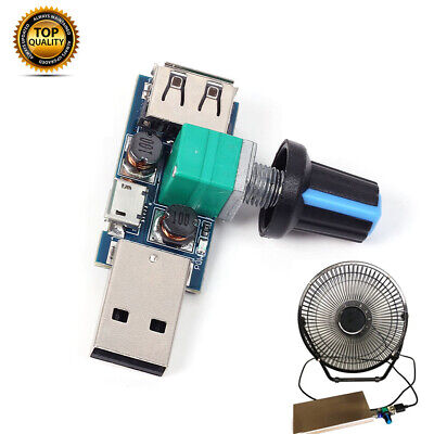 USB Fan Speed Controller DC 4-12V Reducing Noise Multi-stall Adjustment Governor