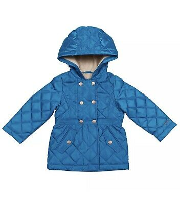 London Fog Girls' Midweight Jacket , Turquoise , Size 3T and 5T