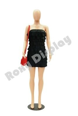 Female Plastic Unbreakable Mannequin Display Dress Form Display #PS-957-06F