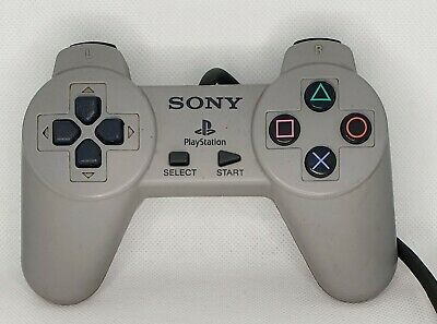 Official Sony PlayStation One PS1 Grey Controllers SCPH-1080