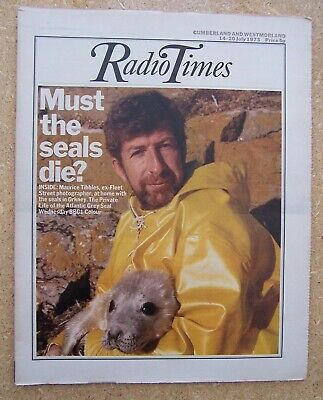 Radio Times/1973/Orkney Seals/Emerson Fittipaldi/Ginger Baker interview/
