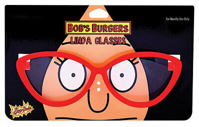 "Bob's Burgers Linda Belcher Novelty Glasses 5.5"", Dress Up, Costume, Halloween"