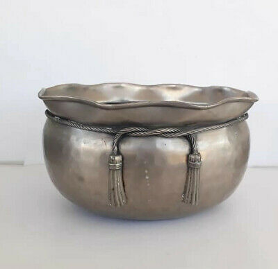 home decor beautiful bowl silver plate solid bowls medium vintage silver craved
