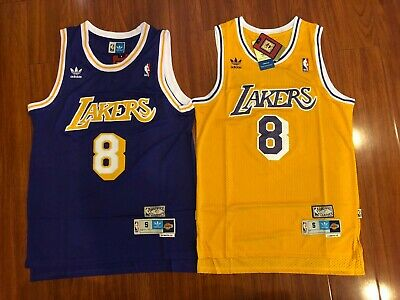 Kobe Bryant#24 Los Angeles Lakers HWC Swingman Stiched Yellow Jersey NWT