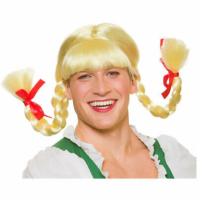 Plaited Oktoberfest Wigs Ladies Fancy Dress Bavarian Womens Adults Costume Wigs