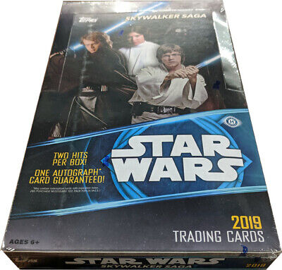Topps 2019 Star Wars Skywalker Saga Factory Sealed Hobby Card Box
