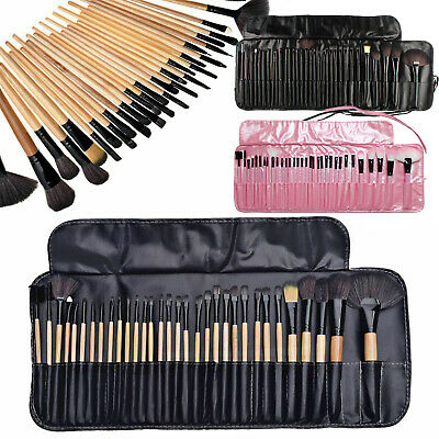 24/32PCS Kabuki  Make Up Brushes Eyeshadow Eyeliner Blending Eyebrow Brushes Set